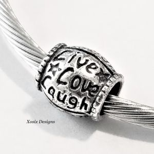 European Live Love Laugh Charm Bead Pendant